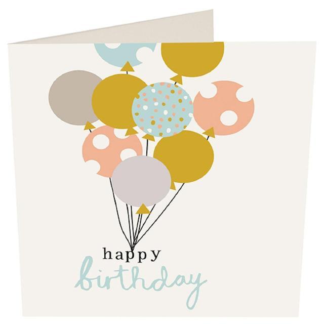Caroline Gardner Happy Birthday Balloons Card From Ocado