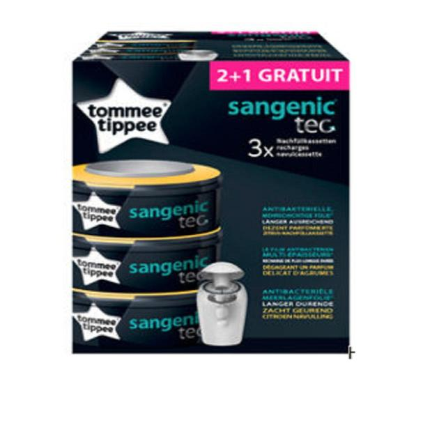 Tommee Tippee Sangenic Tec Refills 2+1 3 per pack from Ocado