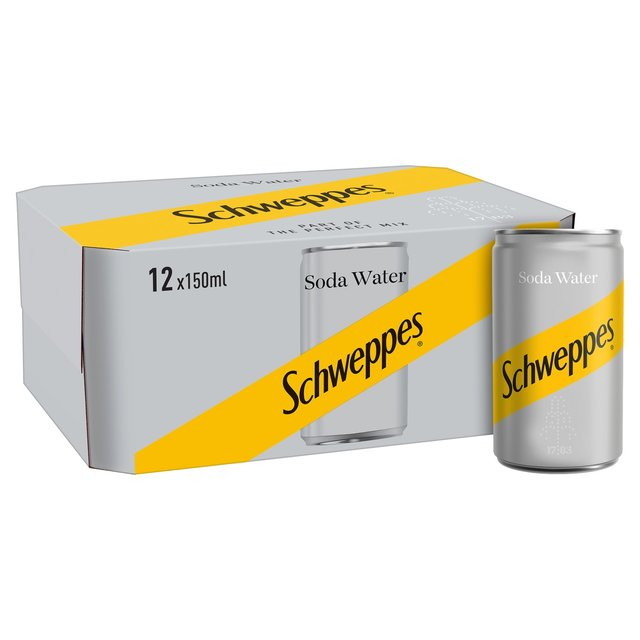 Schweppes Soda Water Mini Cans