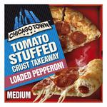 Chicago Town Takeaway Medium Stuffed Pepperoni Pizza
