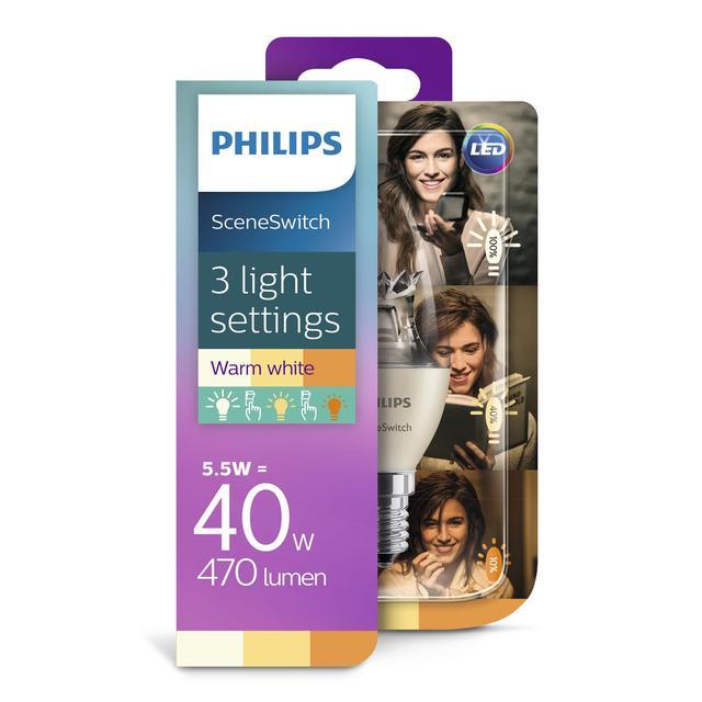 philips led candle light bulb e14 ses 5 5w from ocado. Black Bedroom Furniture Sets. Home Design Ideas