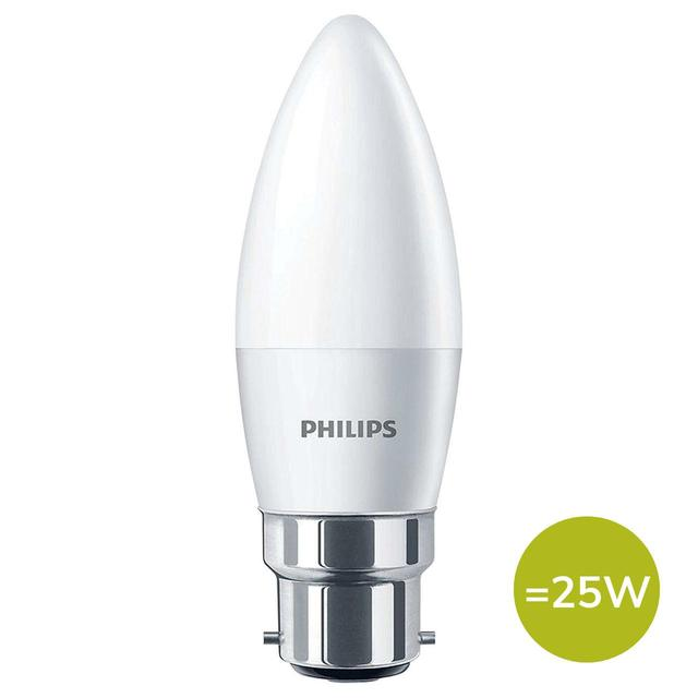 Philips LED Candle Light Bulb B22 BC 4W