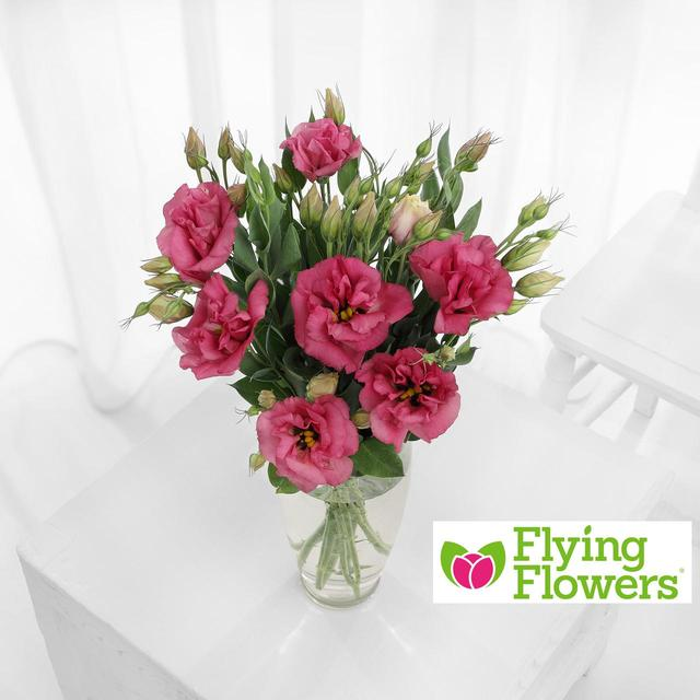 Flying flowers pink lisianthus from ocado flying flowers pink lisianthus mightylinksfo