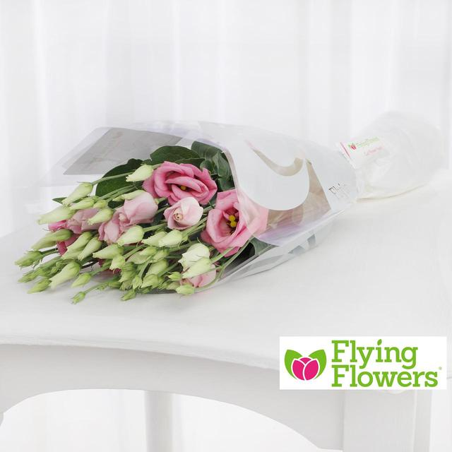 Flying Flowers Pink Lisianthus From Ocado
