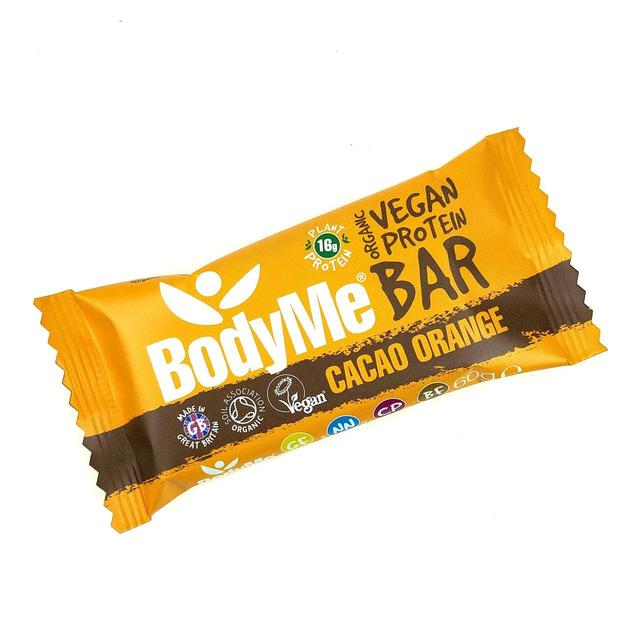 BodyMe Organic Vegan Cacao Orange Protein Bar