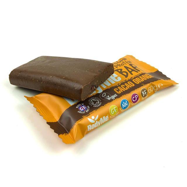 BodyMe Organic Vegan Cacao Orange Protein Bar | Ocado