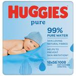 Huggies Pure Baby Wipes  18 x 56 per pack