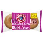 New York Bakery Co. Cinnamon & Raisin Bagel Thins