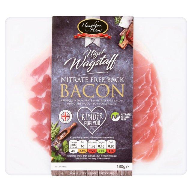 Houghton Nitrite Free Sliced Back Bacon   Ocado