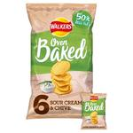 Walkers Baked Sour Cream & Chive Snacks 25g x