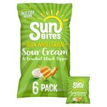 Sunbites Sour Cream & Pepper Multigrain Snacks 25g x