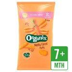 Organix Melty Carrot Puffs Organic Baby Finger Food Snack Multipack