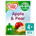 Cow & Gate Apple & Pear Fruit Puree Pouch Multipack