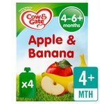 Cow & Gate Apple & Banana Fruit Puree Pouch Multipack