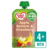 Cow & Gate Apple, Banana & Strawberry Fruit Puree Pouch