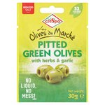Crespo Pitted Green Olives With Herbs & Garlic