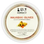 Cooks & Co Halkidiki Olives with Peppers & Garlic