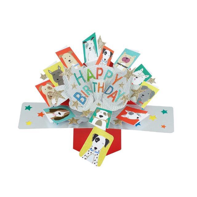 Pop Up Dogs Birthday Card From Ocado