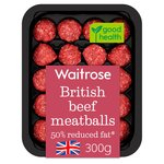 Waitrose Reduced Fat Beef Meatballs