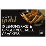 Ocado Gold 10 Lemongrass & Ginger Vegetable Crackers
