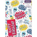 Birthday Monsters Gift Wrap Sheets & Tags