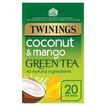 Twinings Green Tea Mango & Coconut Tea Bags