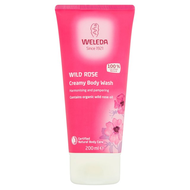 Weleda Natural Wild Rose Creamy Body Wash, Vegan
