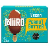 MiiRO Vegan Ice Cream Lollies Peanut Butter