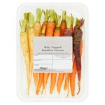 Waitrose 1 Baby Topped Rainbow Carrots