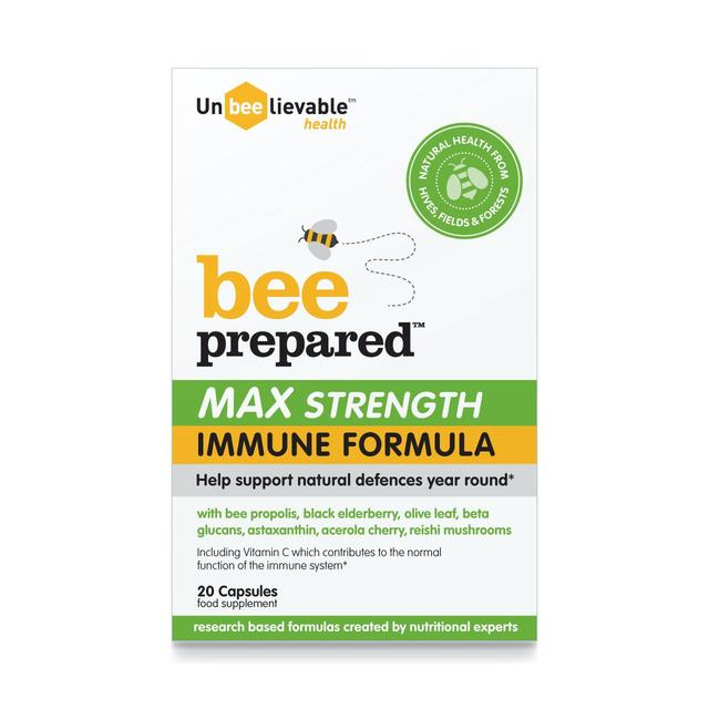 Unbeelievable Health Bee Prepared Max Strength Immune Formula Capsules