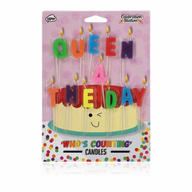 Queen For The Day Birthday Candles