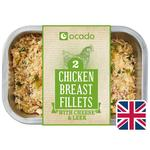 Ocado 2 Chicken Breasts with Cheese & Leek