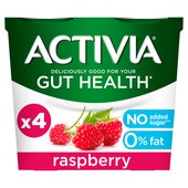 Activia Fat Free Raspberry Yogurts