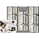 Tom Smith Christmas Crackers, Silver & White