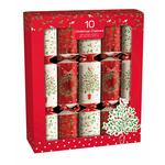 Red & White Tree & Wreath Christmas Crackers