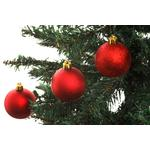 Christmas Shatterproof Baubles, Red