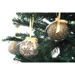 White and Gold Festive Foam Baubles