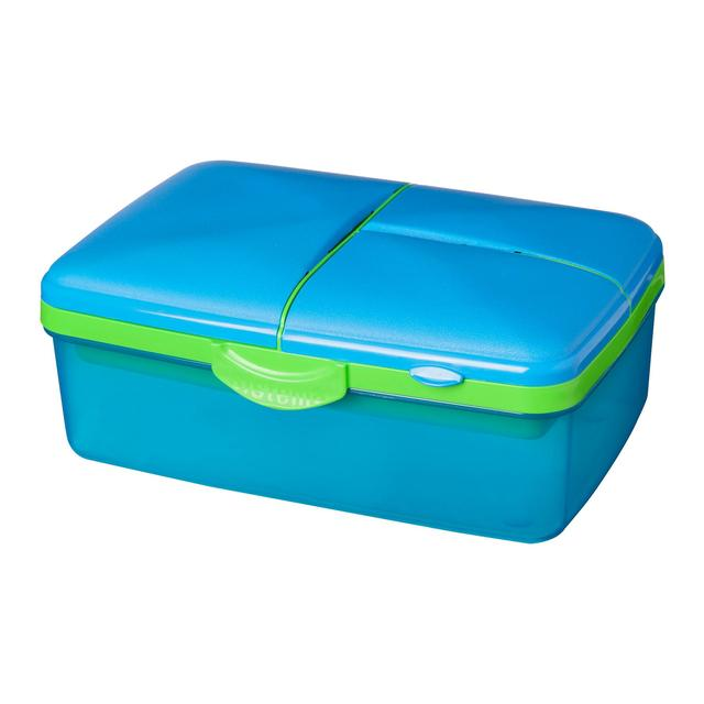 Sistema Lunch Slimline Quad Lunchbox With Bottle 1 5 L Blue Green