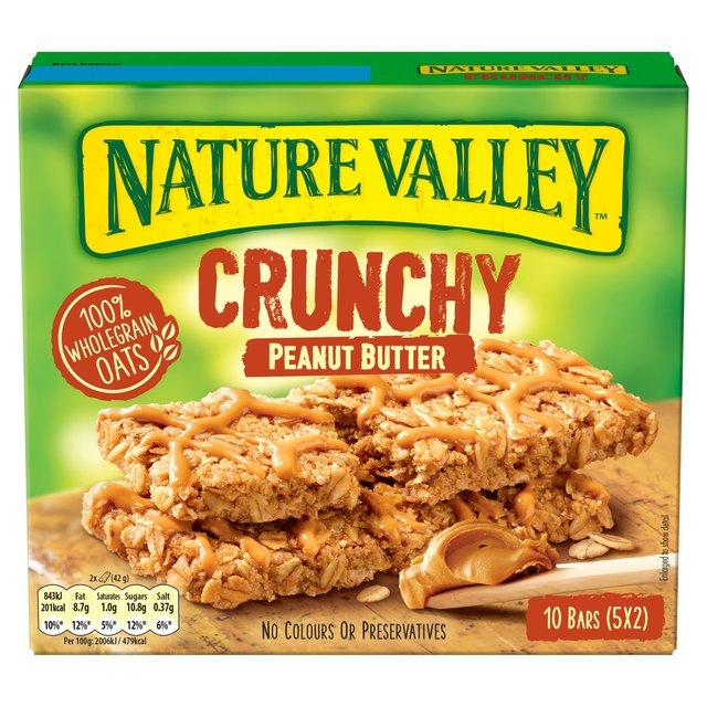 Nature Valley Crunchy Peanut Butter Cereal Bars   Ocado