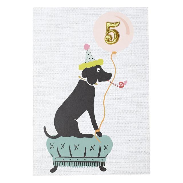 Petra Boase 5th Birthday Dog Card From Ocado