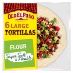 Old El Paso Large Super Soft Flour Tortillas x6