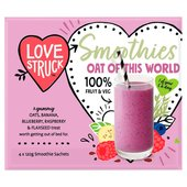 Love Smoothies. Breakfast Smoothie Blueberry, Banana & Muesli