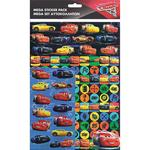 Disney Cars 3 Mega Pack Stickers, 3yrs+