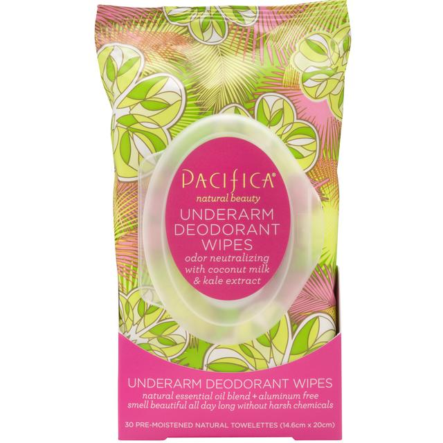 Pacifica Vegan Deodorant Wipes Coconut & Kale Extract