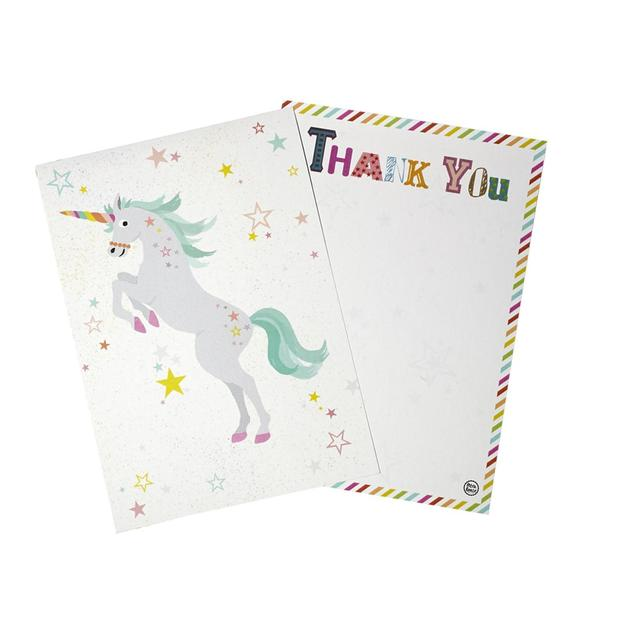 Unicorn Thank You Cards 12 Per Pack From Ocado