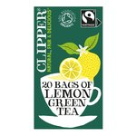 Clipper Organic Fairtrade Green Tea Bags with Lemon