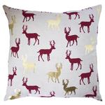 Stag All Over Printed Cushion