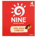 9nine Carob, Apricot & Hemp Seed Bars Multipack