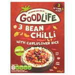 GoodLife Foods 3 Bean Chilli with Cauliflower Rice