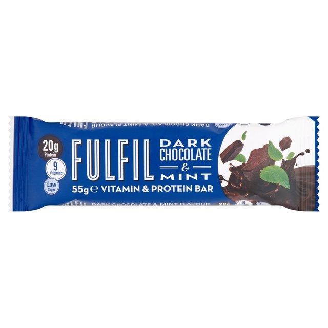 53e119ecd Fulfil Dark Chocolate   Mint Protein Bar 55g from Ocado